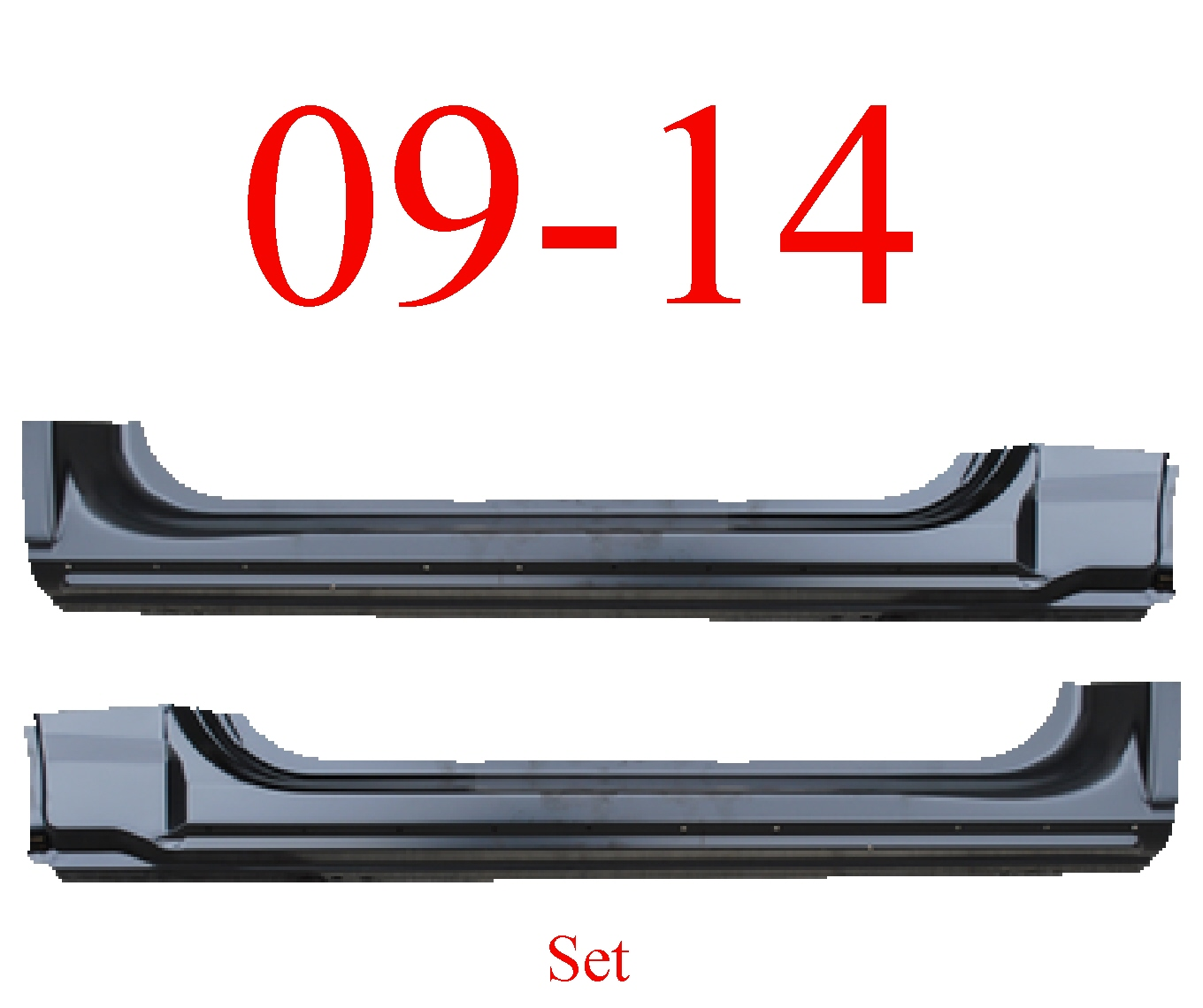 09-14 F150 Regular Cab Extended Rocker Set