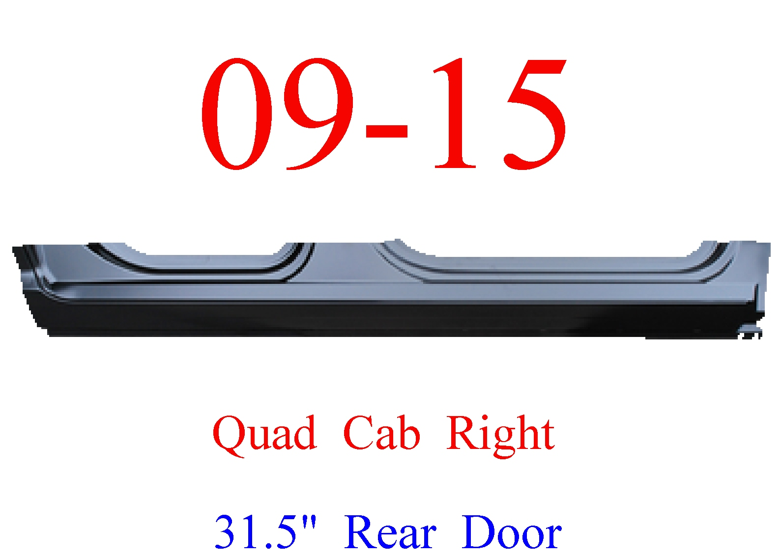 09-15 Ram RIGHT Extended Rocker Panel Quad Cab, Ram Truck