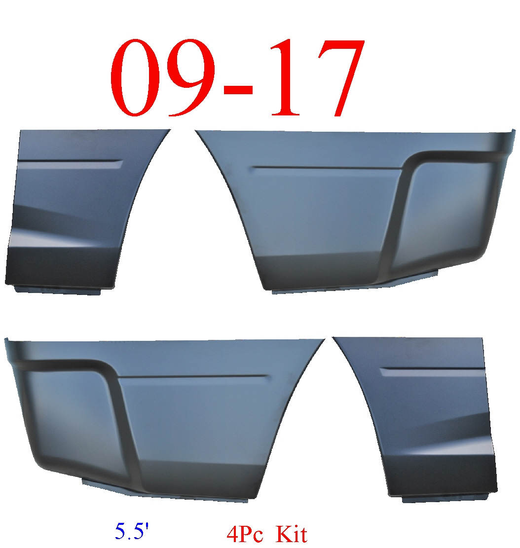 09-17 Ram 5.5' 4Pc Lower Bed Patch Kit, Front & Rear