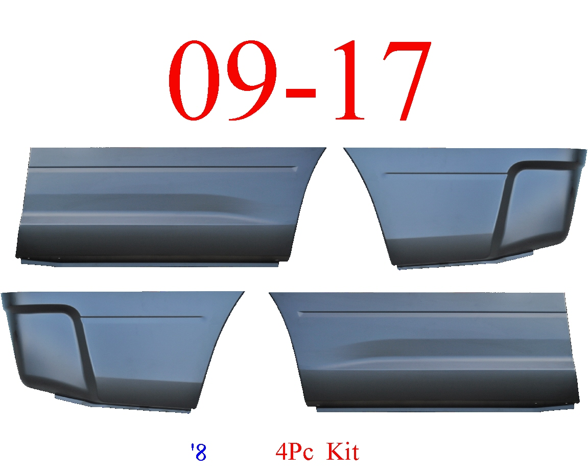 09-17 Ram 8' 4Pc Lower Bed Patch Kit, Front & Rear