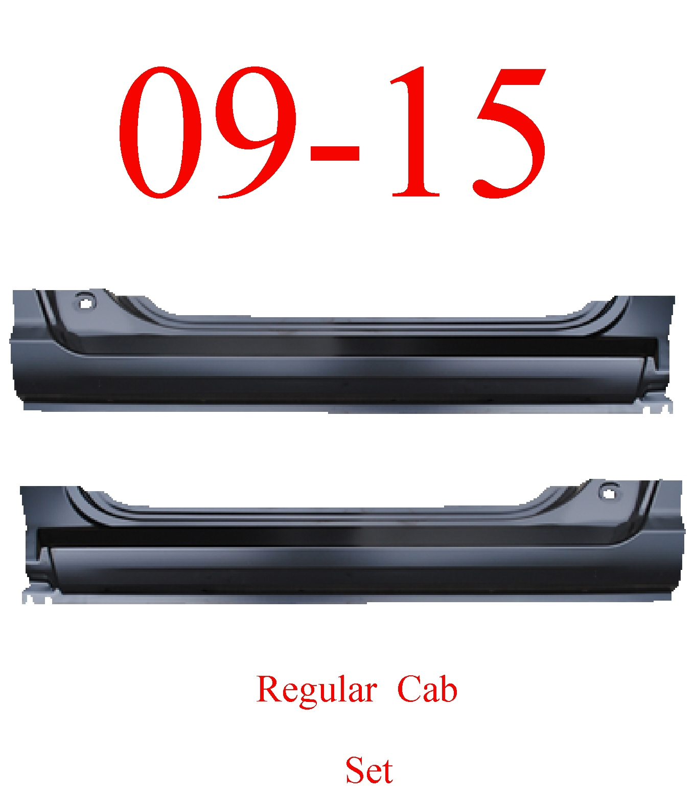 09-15 Ram Regular Cab Extended Rocker Set
