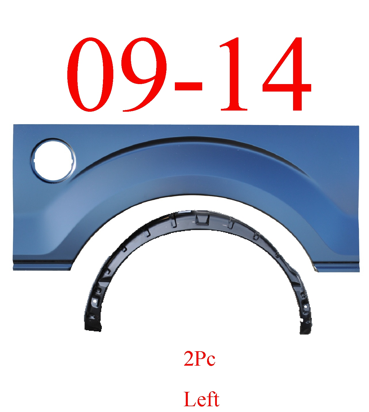 09-14 F150 2Pc Left Arch & Inner Arch Panel