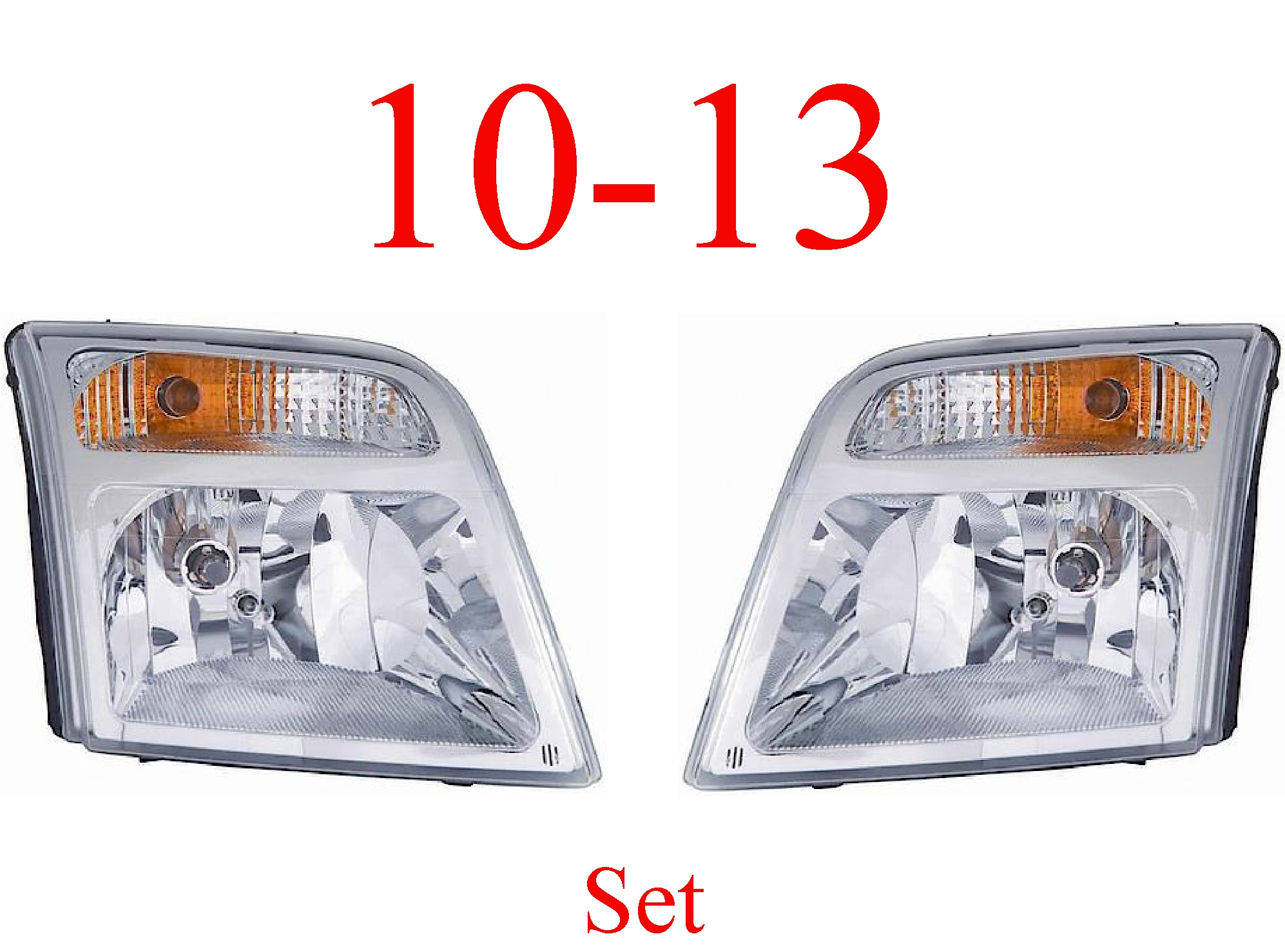 10-13 Ford Transit Connect Head Light Set