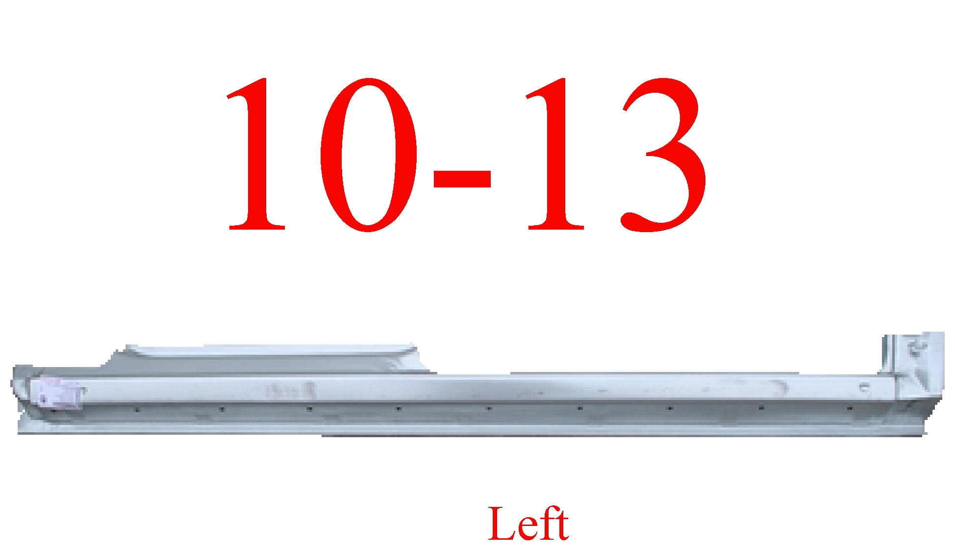 10-13 Ford Transit Connect Left Extended Rocker Panel