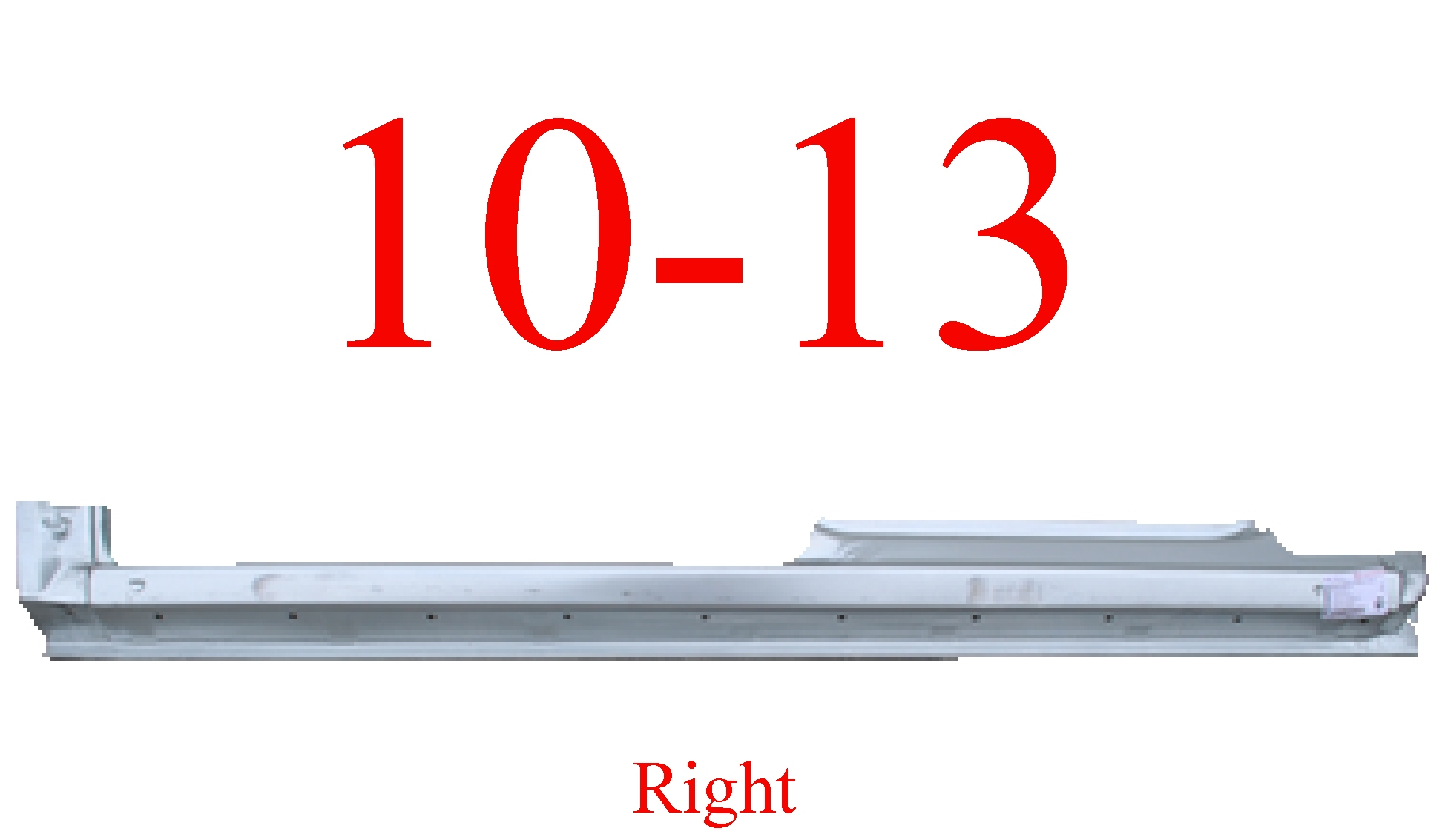 10-13 Ford Transit Connect Right Extended Rocker Panel