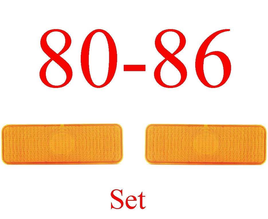80-86 Truck & Bronco Amber Parking Light Set