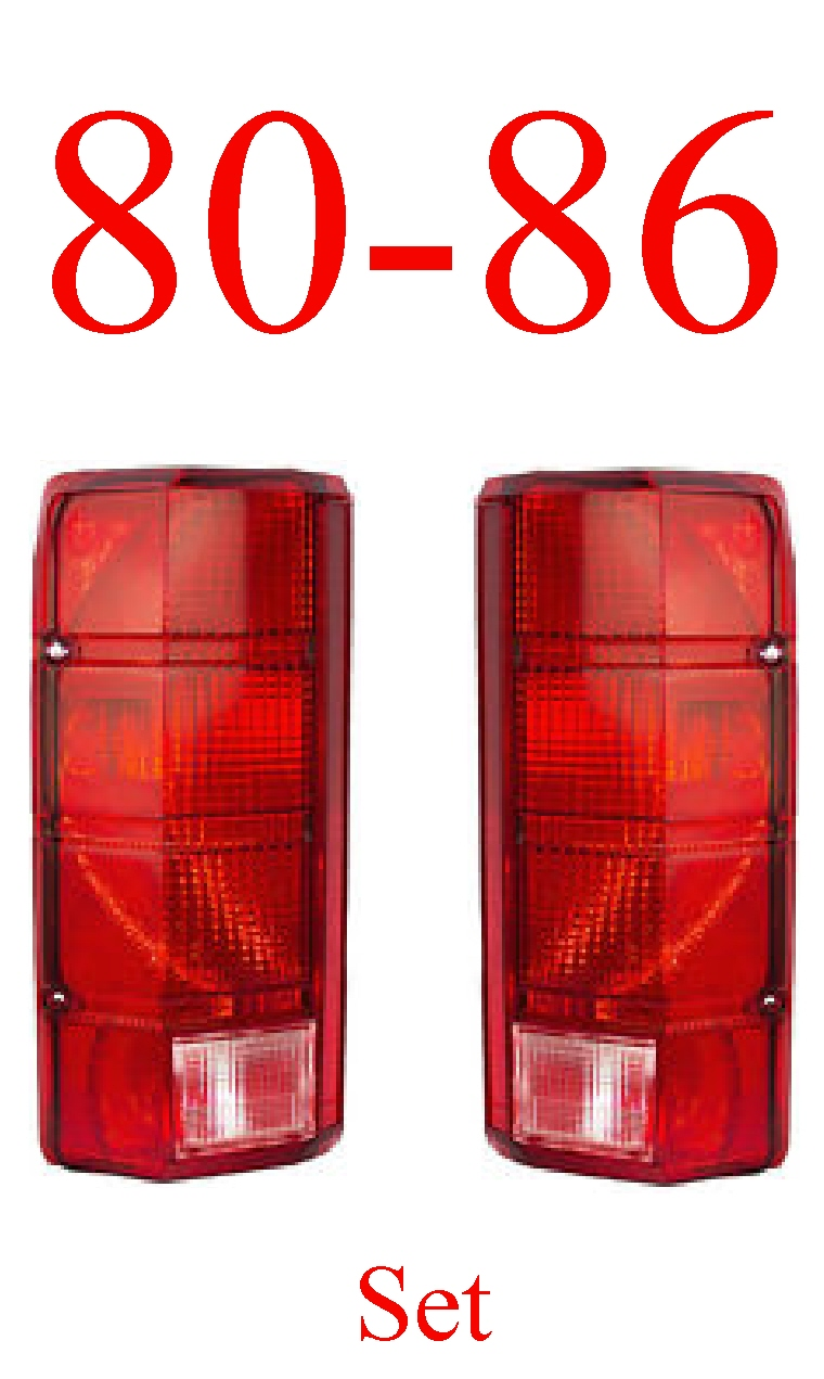 80-86 Truck & Bronco Tail Light Set
