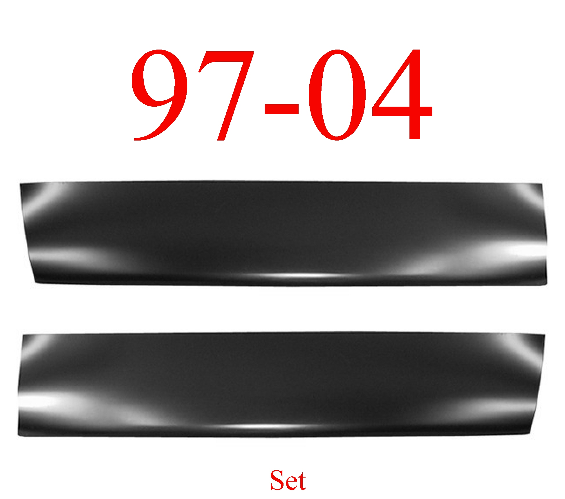 97-04 Dodge Dakota Door Skin Bottom Lower Set