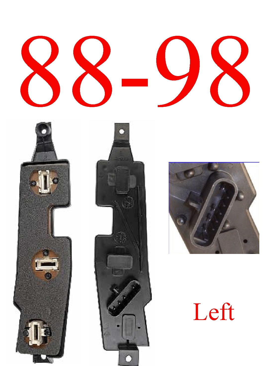 88-98 Chevy GMC Right Tail Light Connector Plate