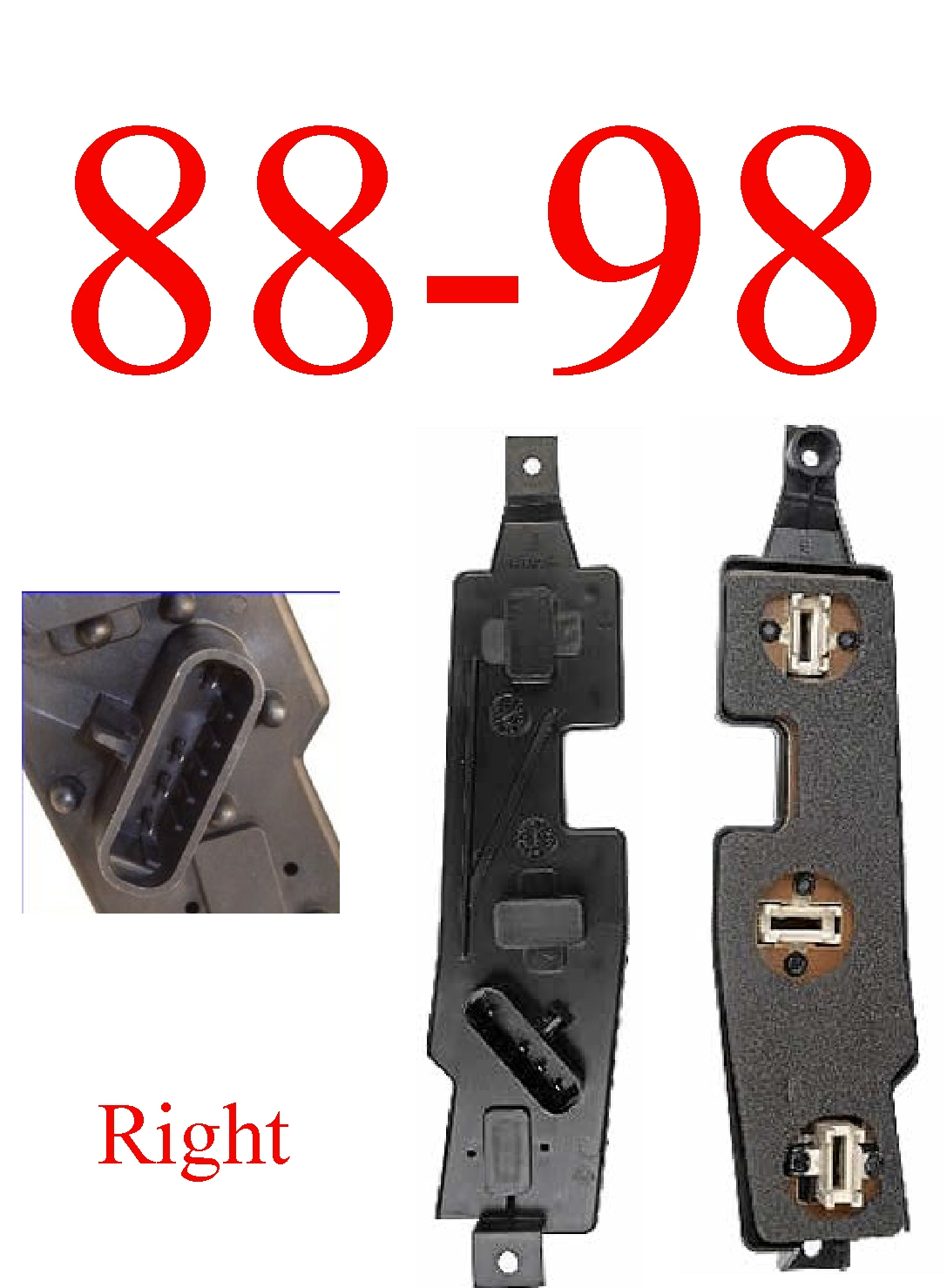 88 98 Chevy Gmc Tail Light Harness Online Store Wiring Connector Right Plate