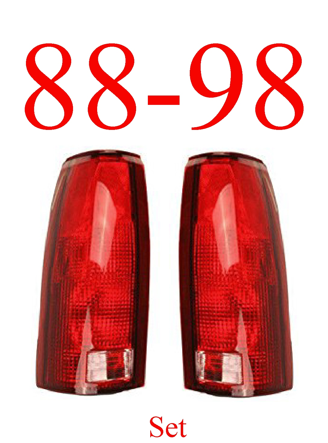 88-98 Chevy GMC Tail Light Set