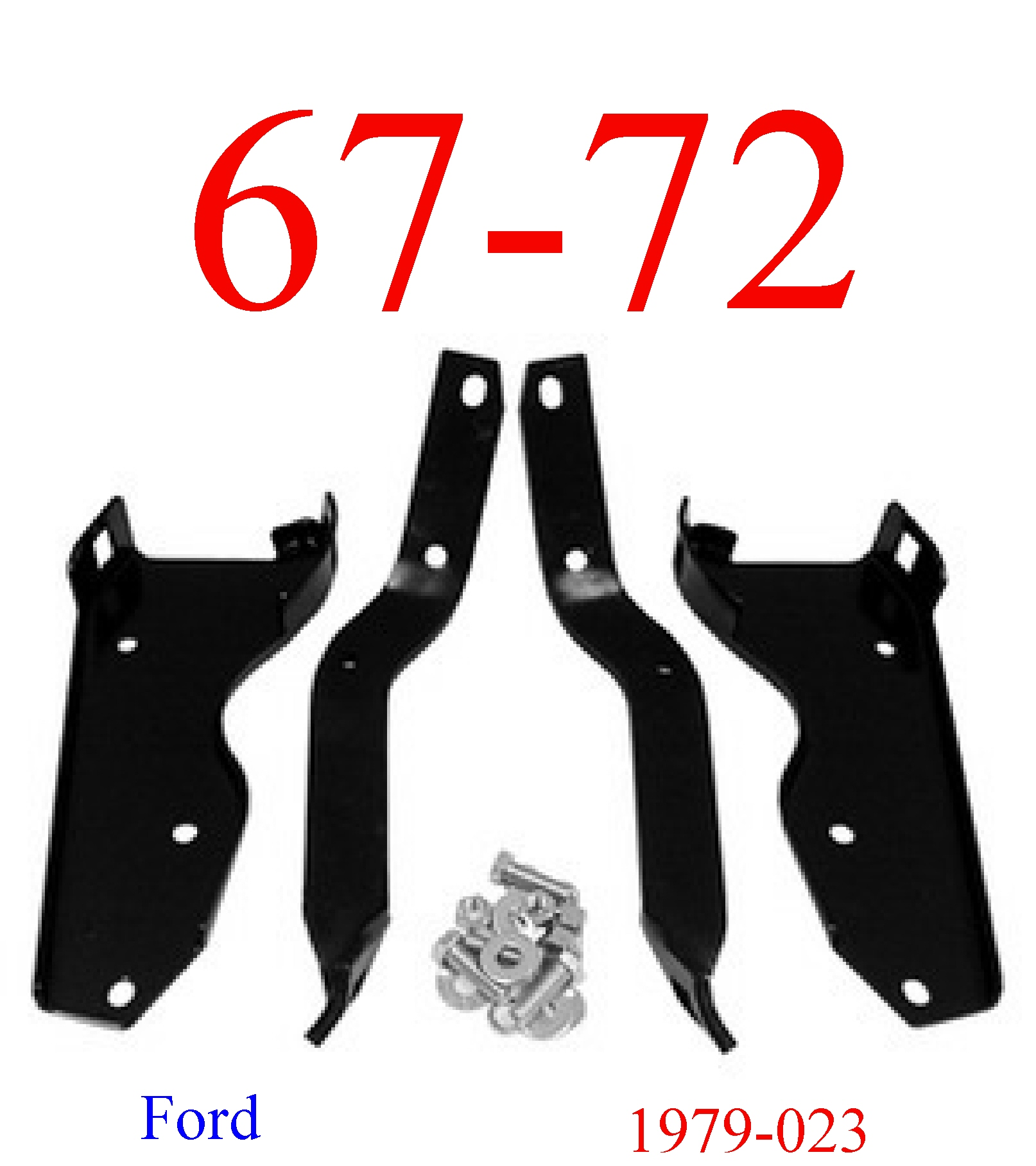 67-72 Ford Truck Rear Bumper Bracket & Bolt Kit