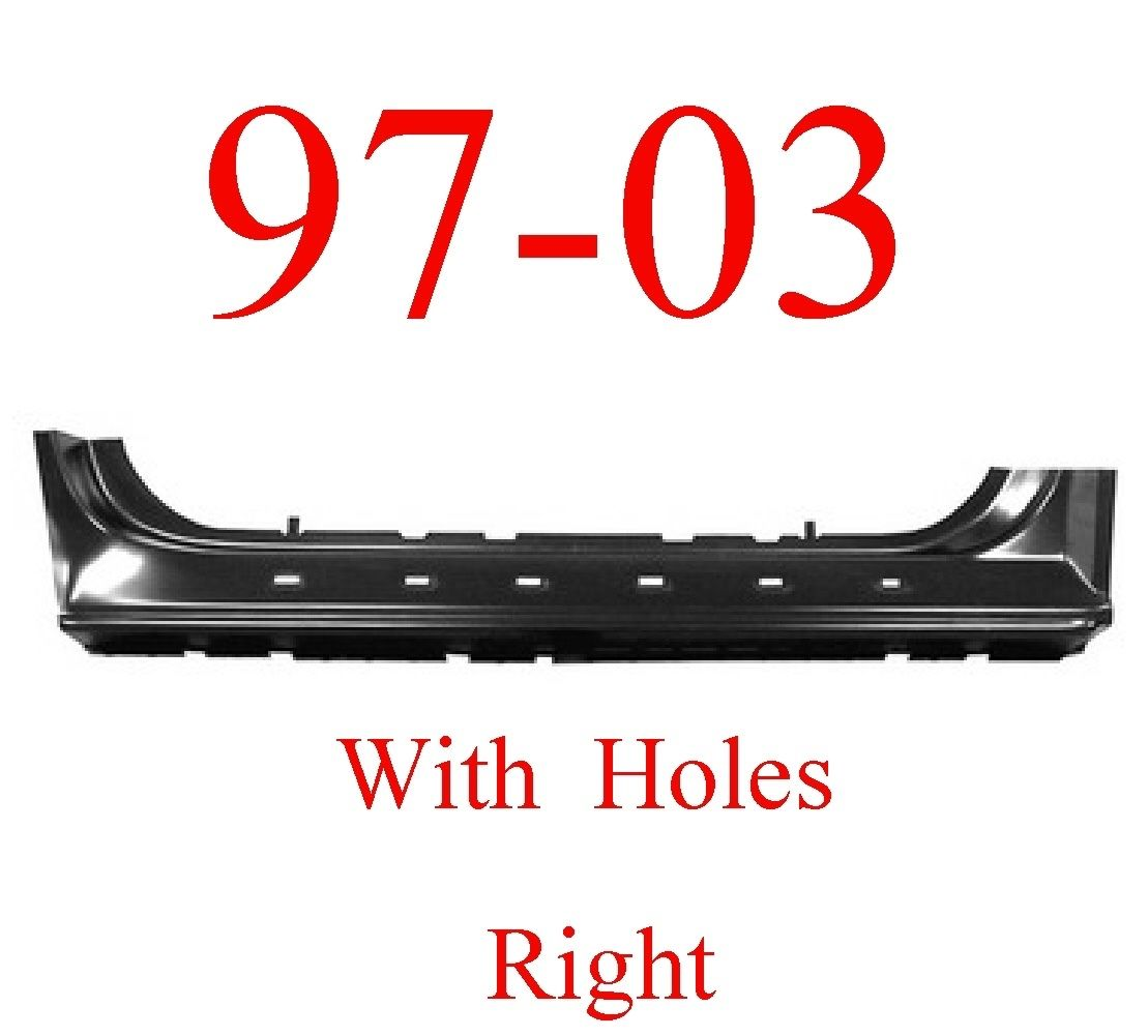 97-03 Ford Right Extended Rocker With Holes