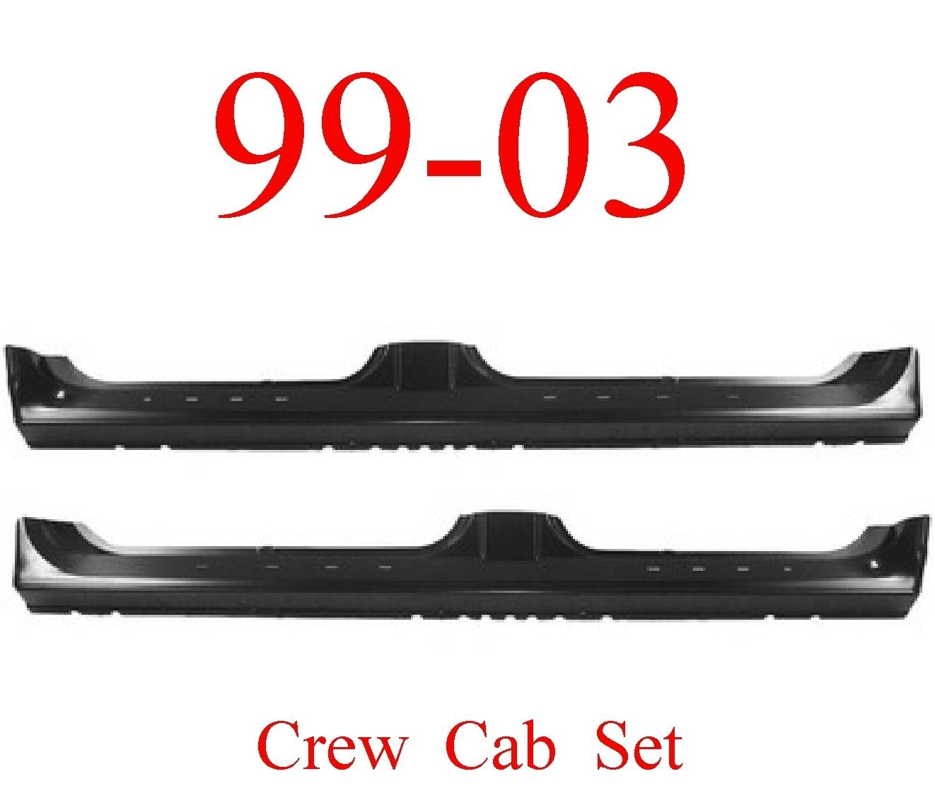 99-03 Ford Crew Cab Extended Rocker Set