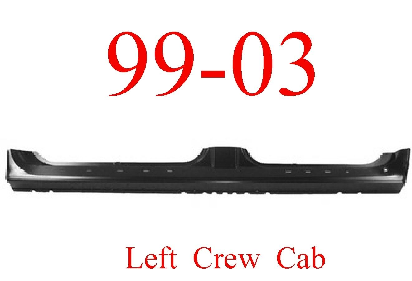 99-03 Ford Left Crew Cab Extended Rocker Panel