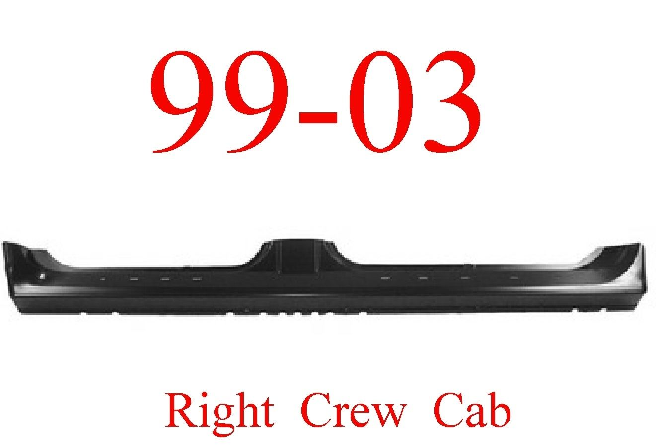 99-03 Ford Right Crew Cab Extended Rocker Panel