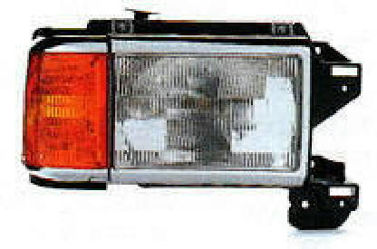 87-91 Truck / Bronco Left 2Pc Chrome Head Light Assembly