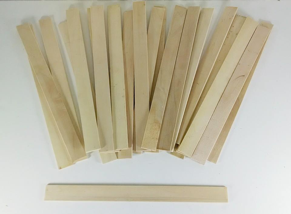 "10 Pack of 12"" Wooden Stir Sticks"