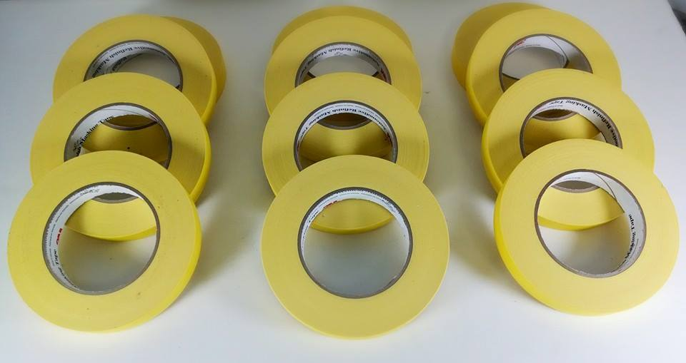 "3/4"" Yellow 3M Masking Tape"