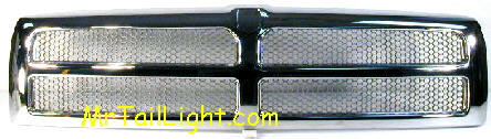 94-01 Dodge Ram Chrome Grill