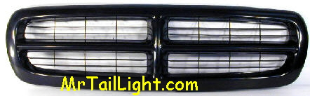 97-04 Dakota 98-03 Durango Black Grill
