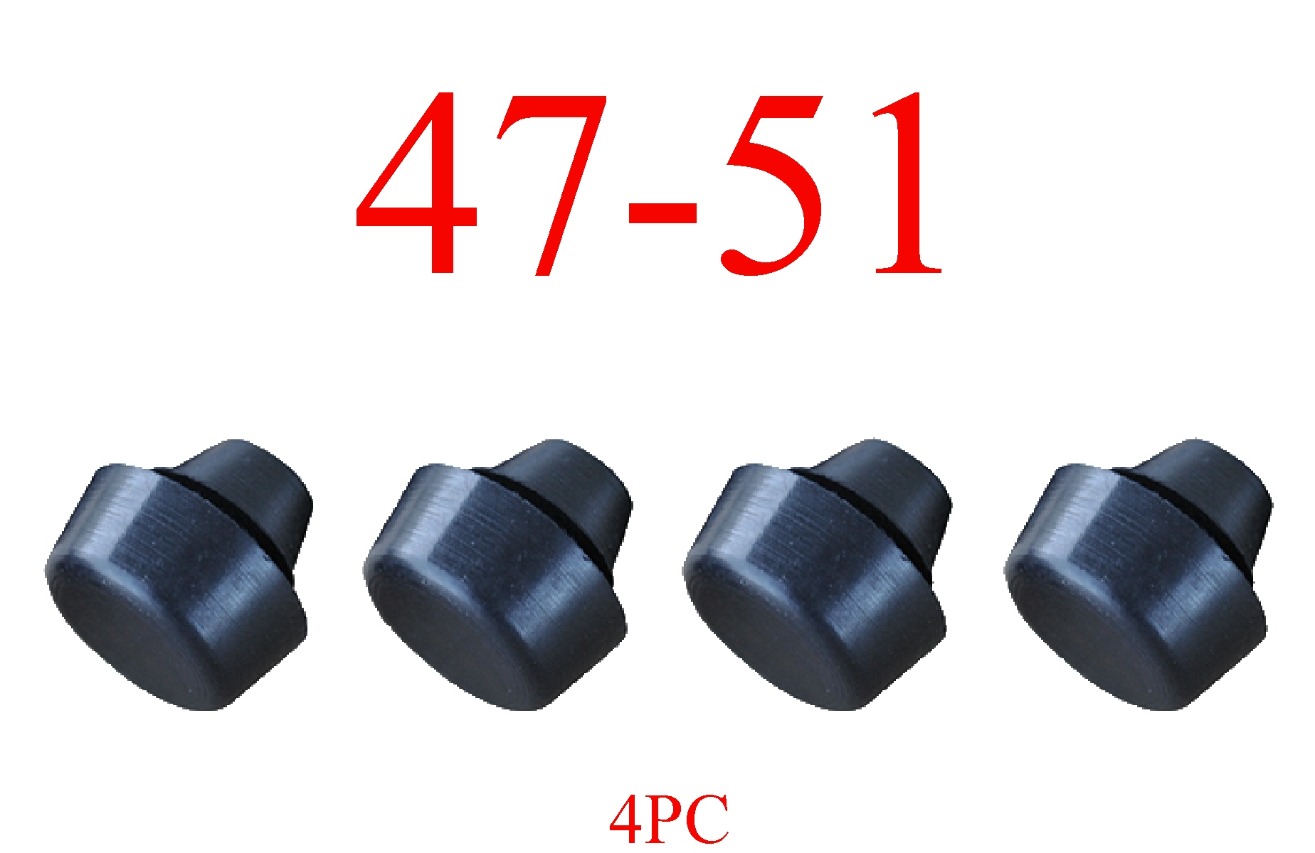 47-51 Chevy 4Pc Rubber Door Bumper Set