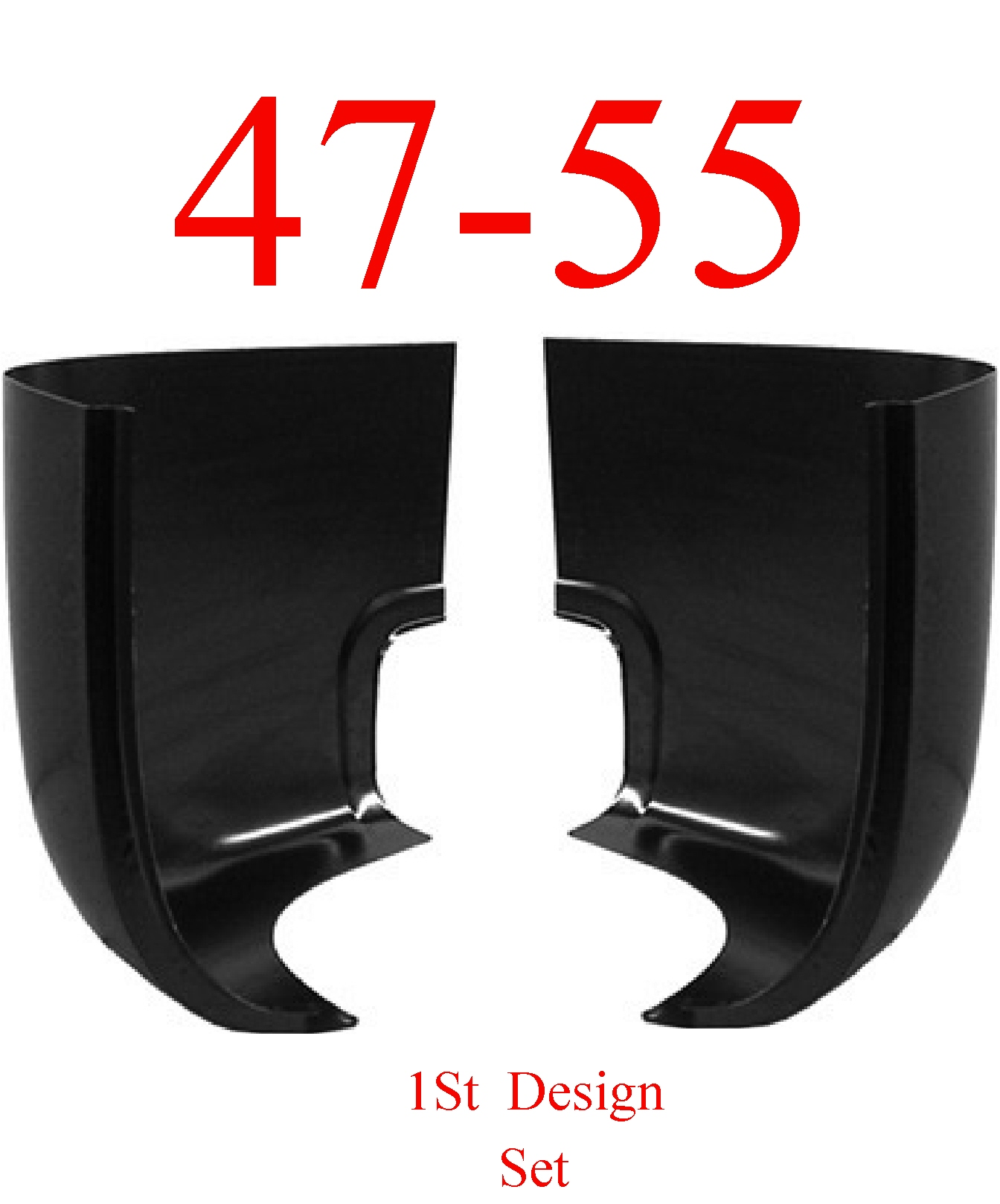 47-55 Chevy GMC Cab Corner Set, 1st Design