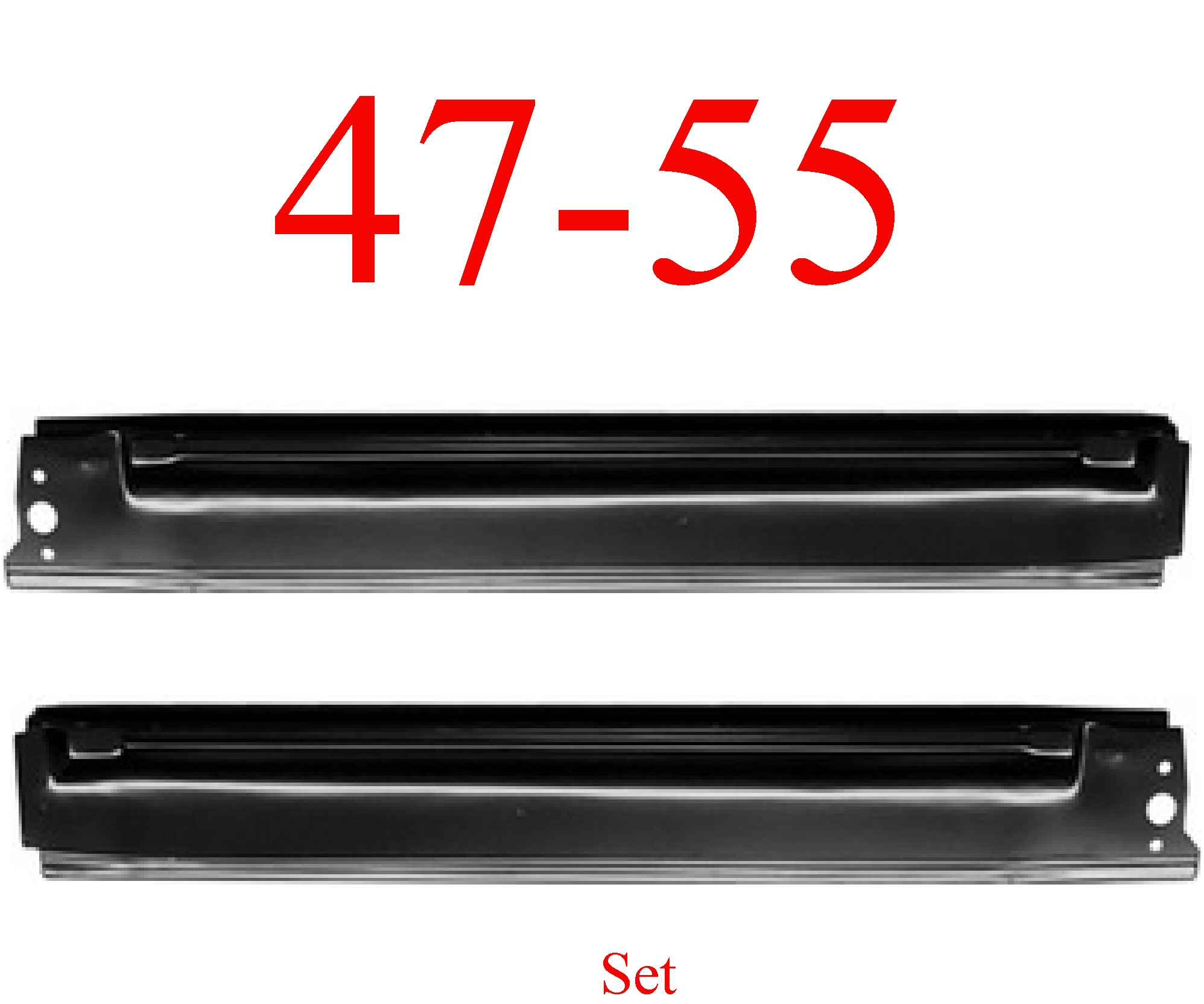 47-55 Chevy GMC Extended Rocker Panel Set, 1st Design