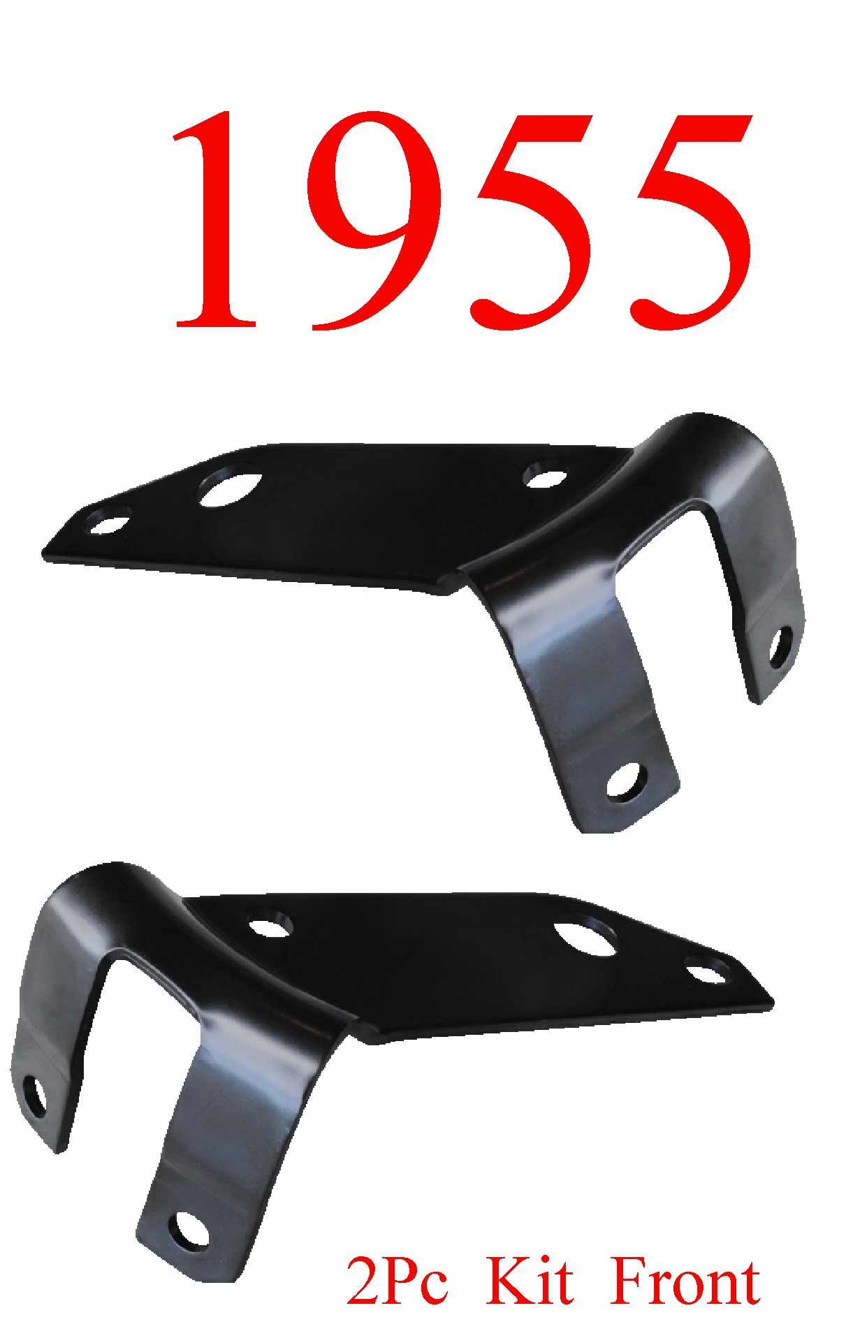 55 Chevy Bel Air 2Pc Front Side Bumper Bracket Set