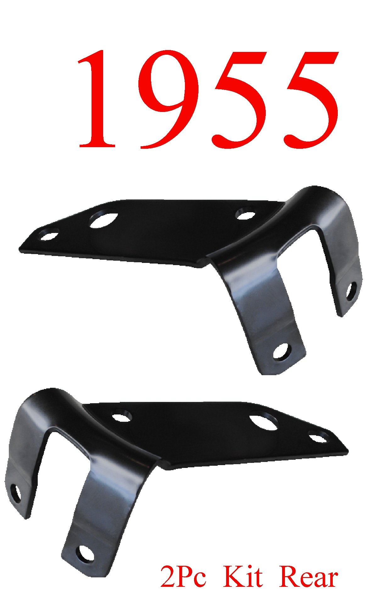 55 Chevy Bel Air 2Pc Rear Side Bumper Bracket Set