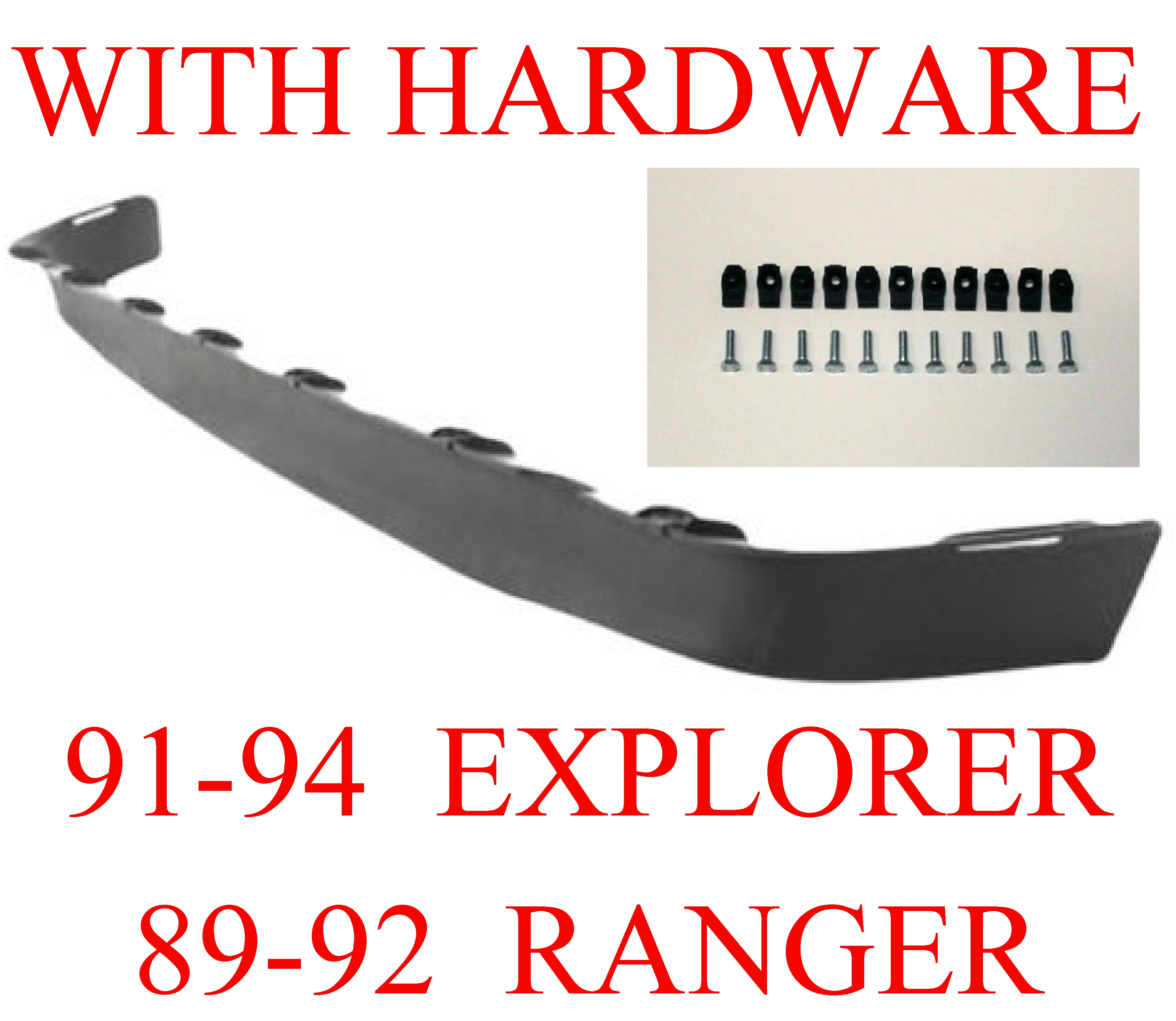 91-94 Ford Explorer Lower Bumper Valance With Hardware