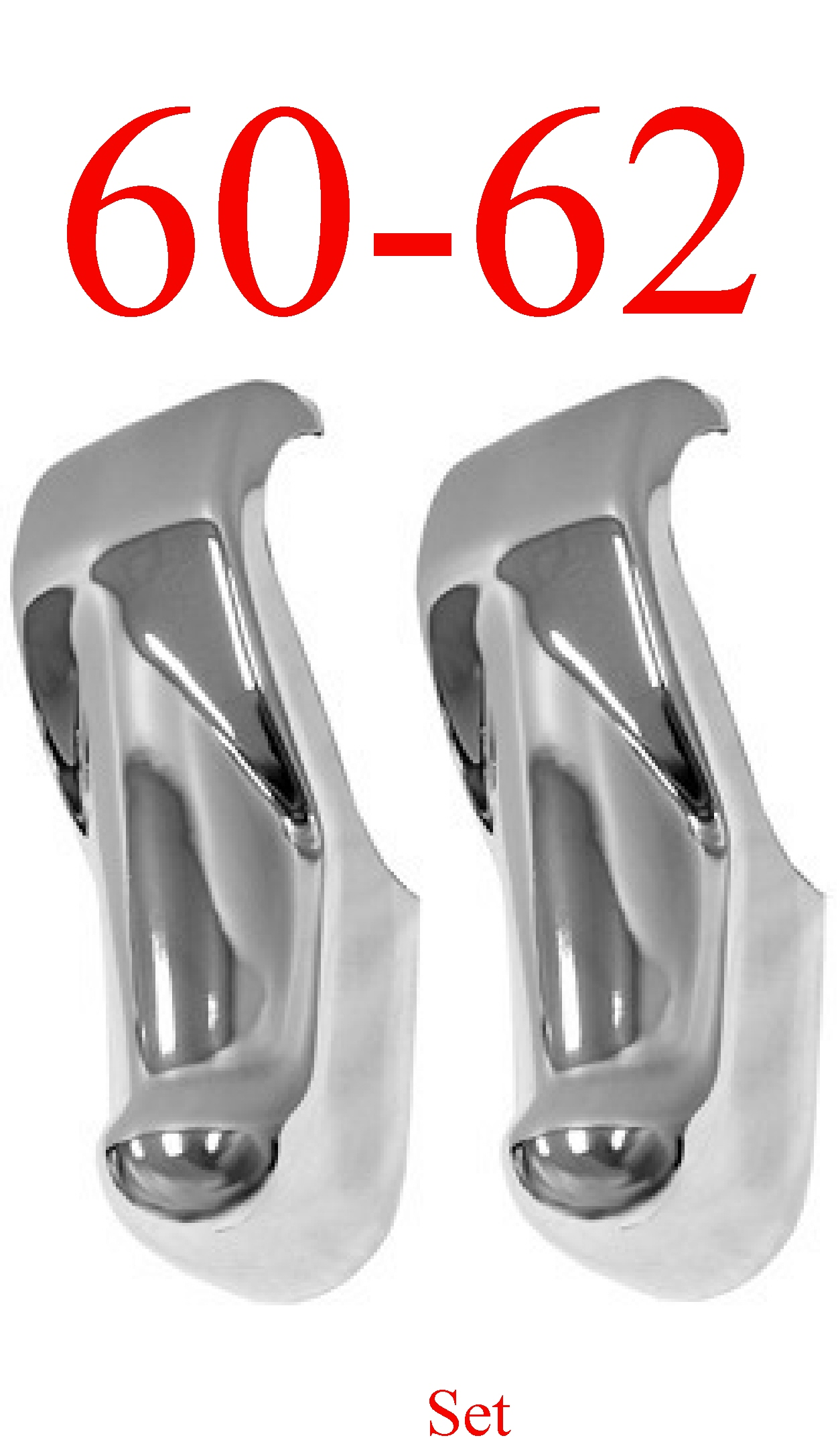 60-62 Chevy GMC Bumper Guard Pair, Chrome