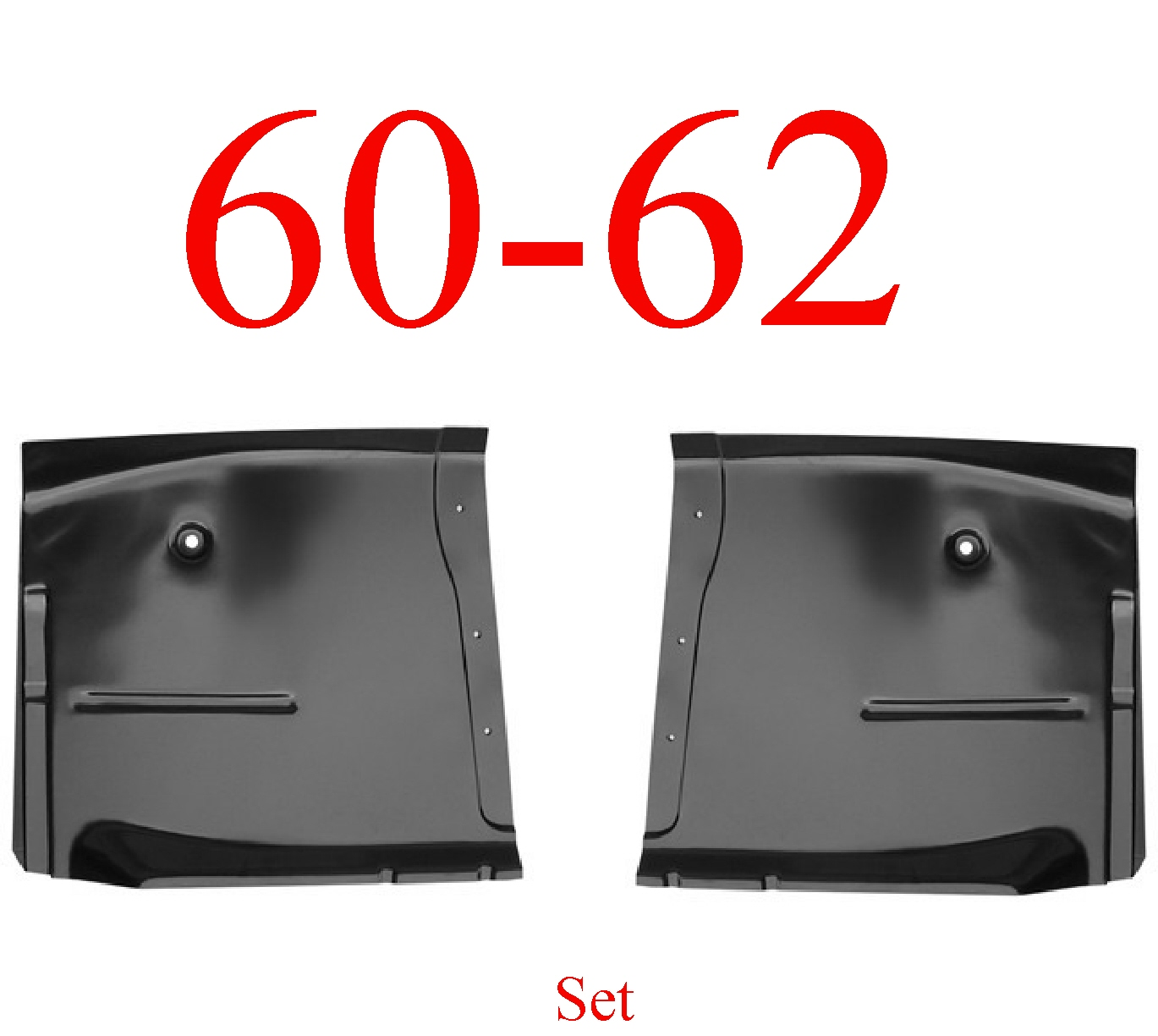 60-62 Chevy Extended Floor Pan Set