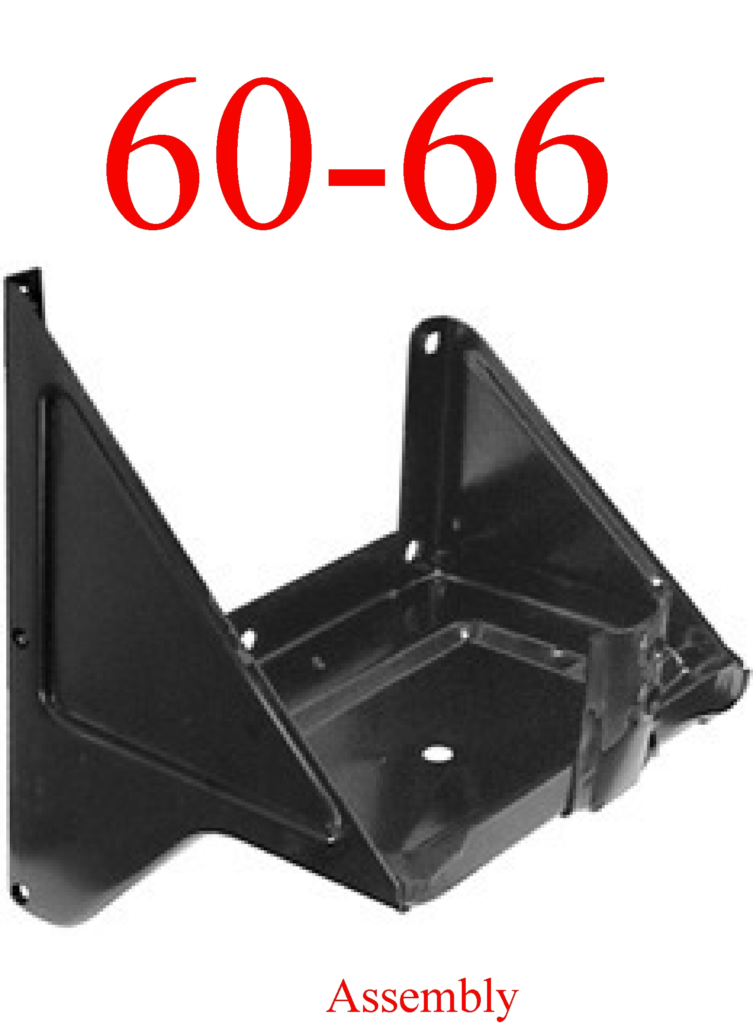 60-66 Chevy GMC Battery Tray Assembly With Support