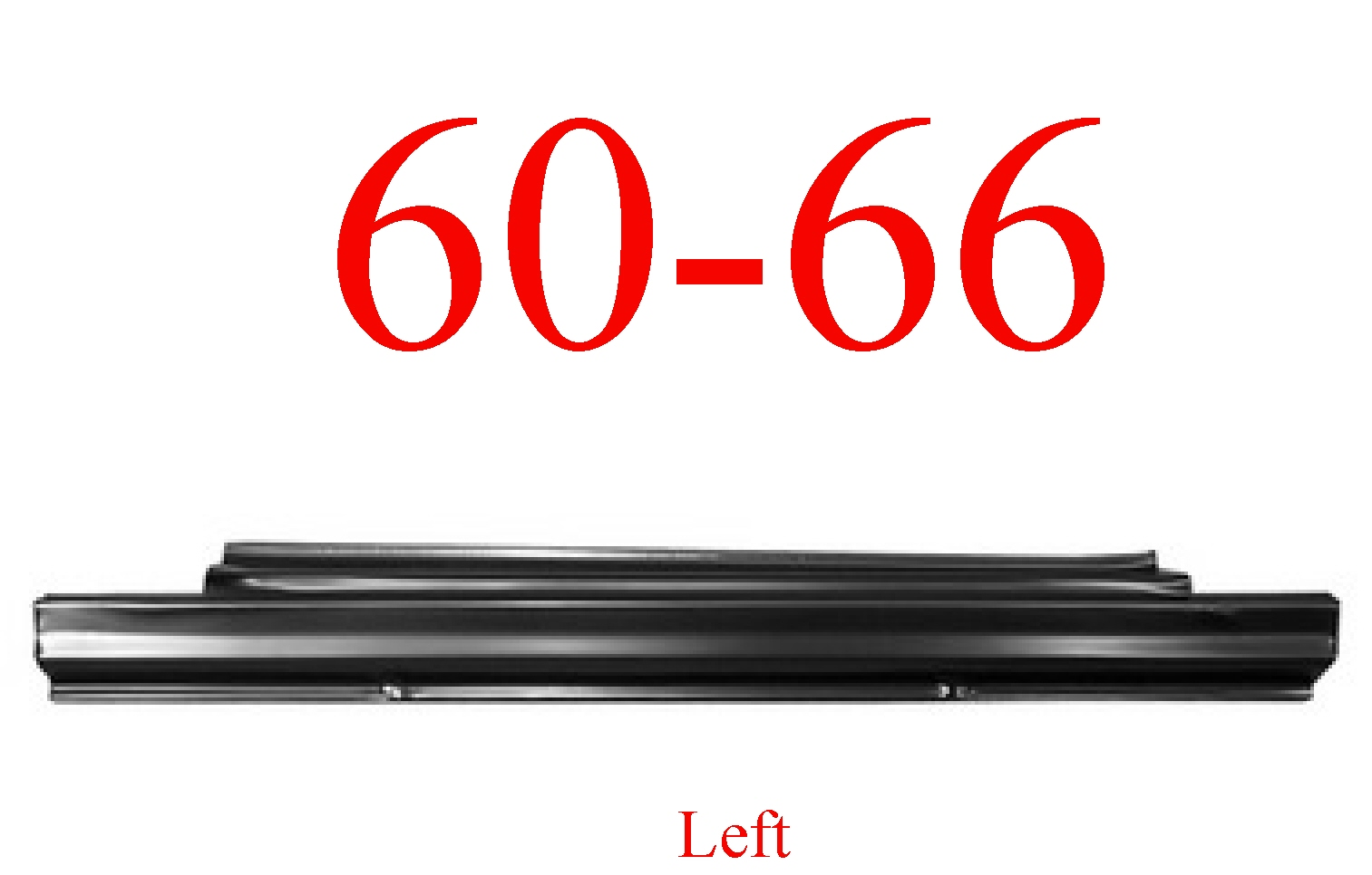 60-66 Chevy Left Slip-On Rocker Panel