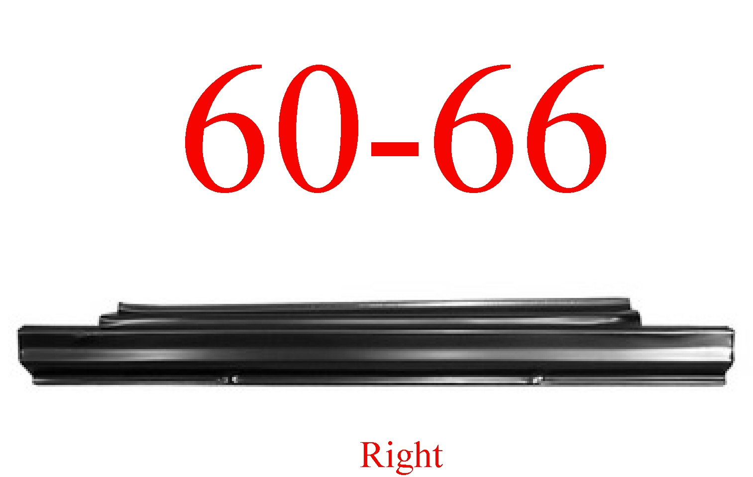 60-66 Chevy Right Slip-On Rocker Panel