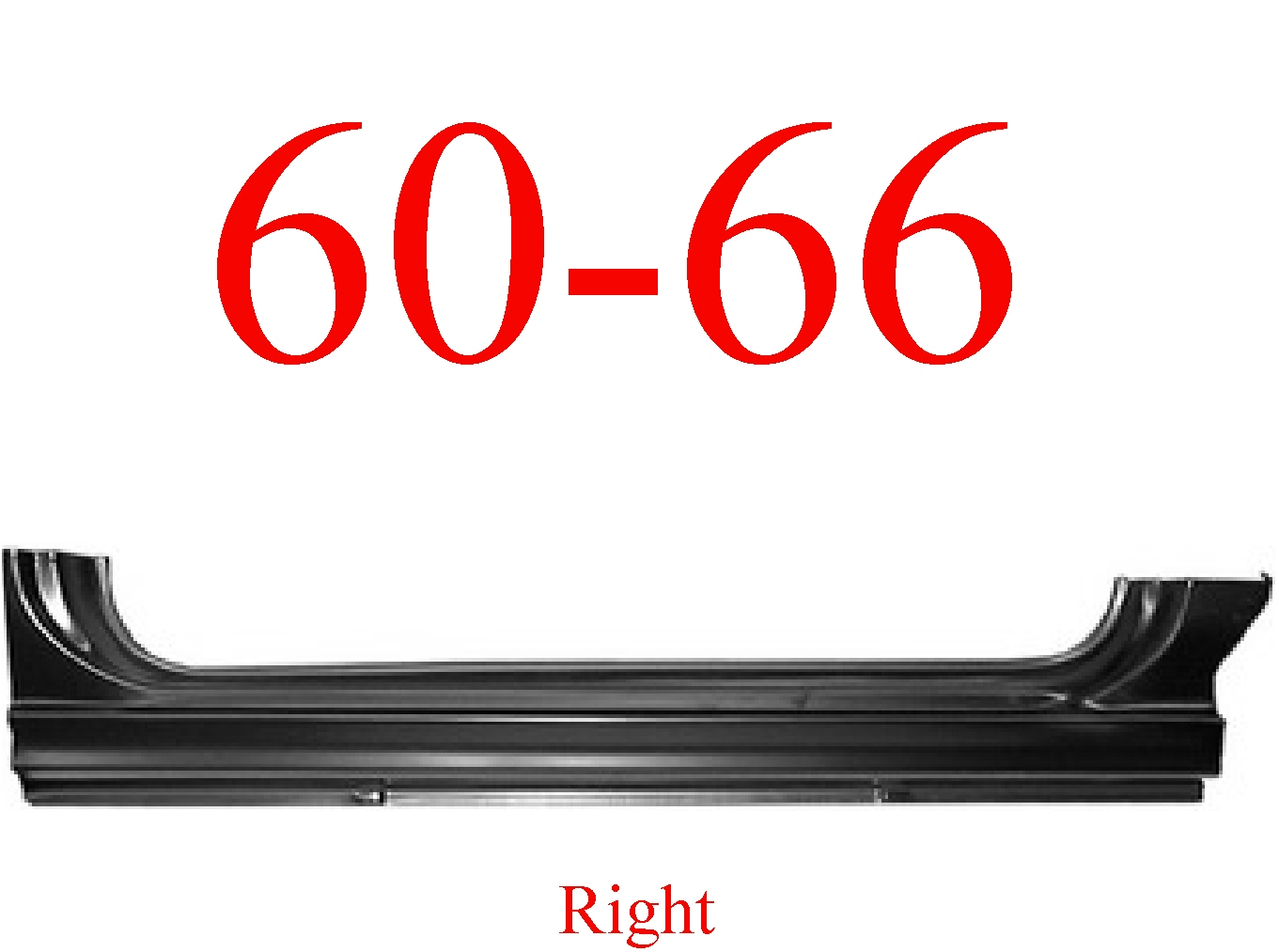 60-66 Chevy Right Extended Rocker Panel, OEM Type