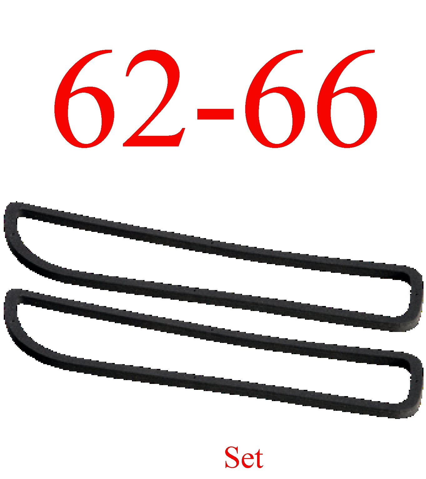 62-66 Chevy Park Light Gasket Set