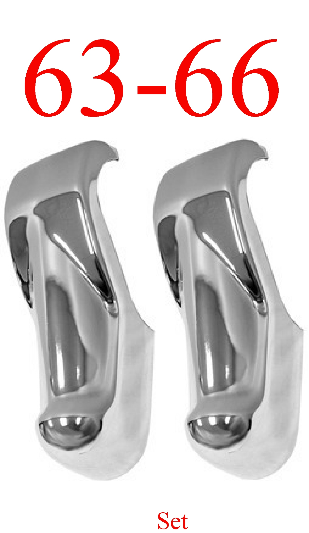 63-66 Chevy GMC Bumper Guard Pair, Chrome