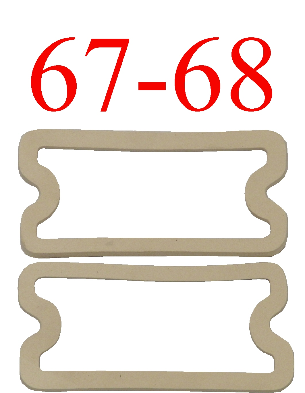 67-68 Chevy Parking Light Gasket Set L&R
