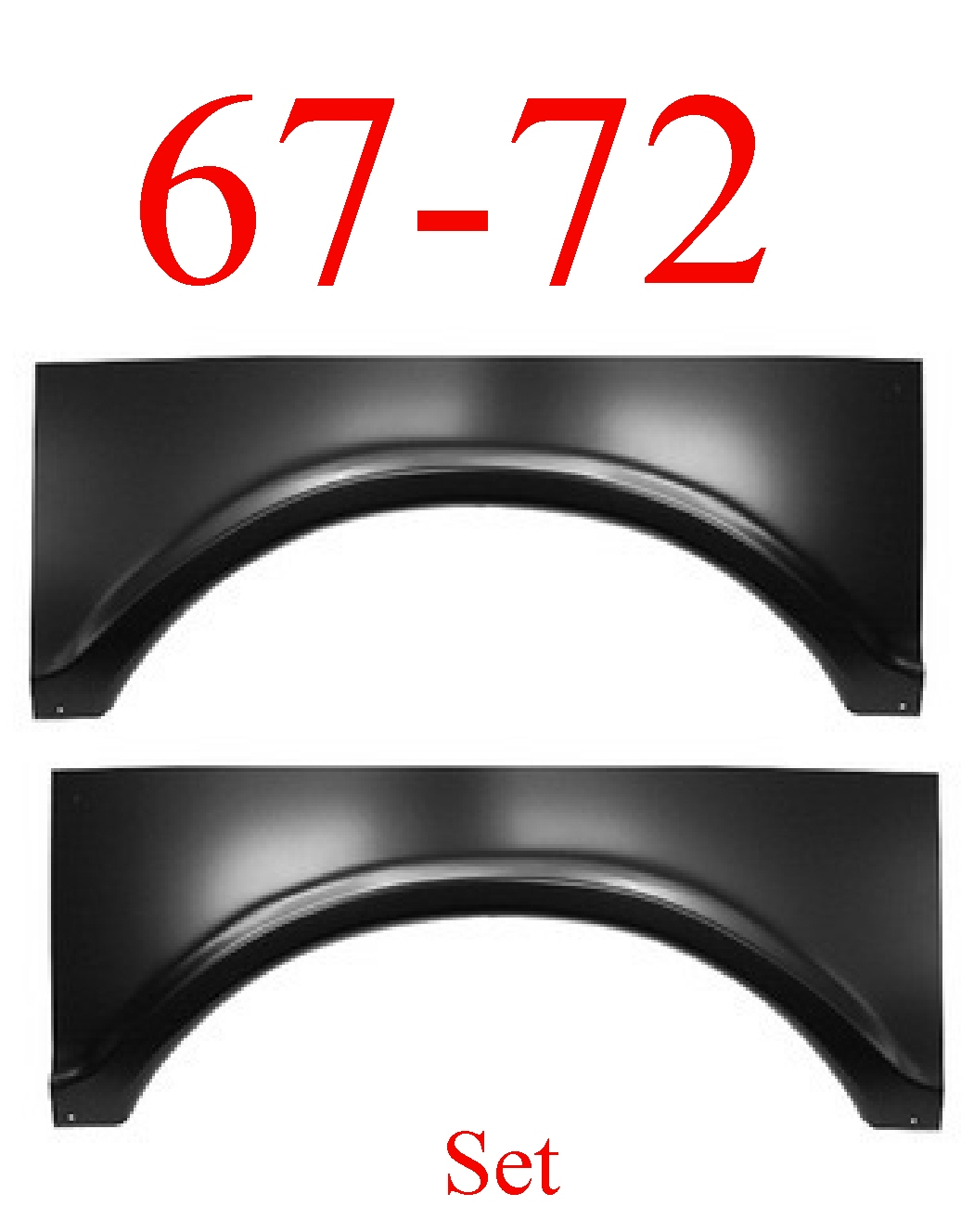 67-72 Chevy Rear Upper Wheel Arch Set, GMC Truck