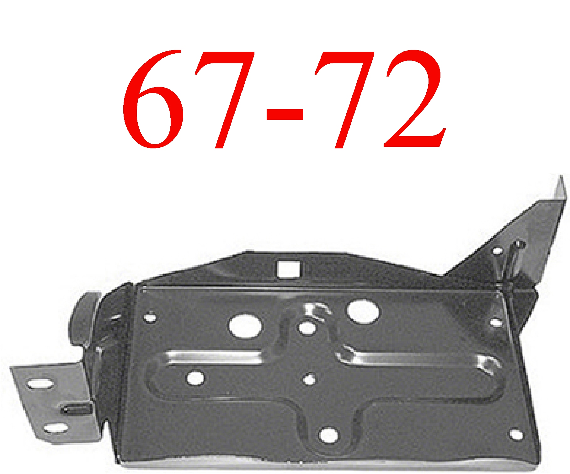 67-72 Ford Battery Box Assembly