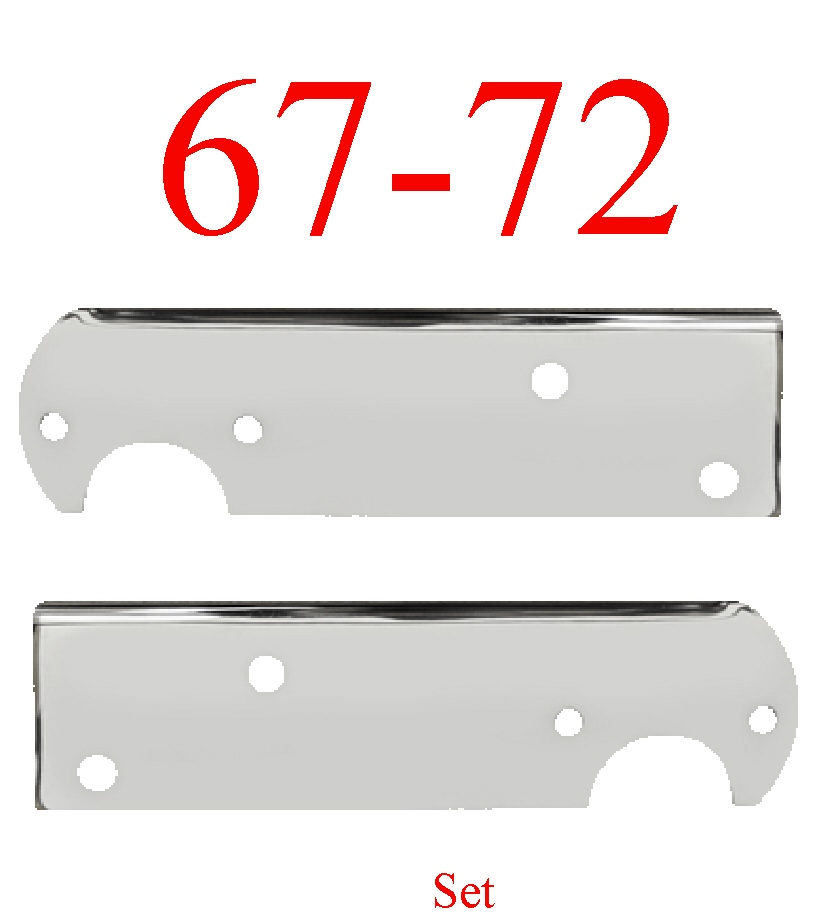 67-72 Chevy Chrome Stepside Tail Light Bracket Set