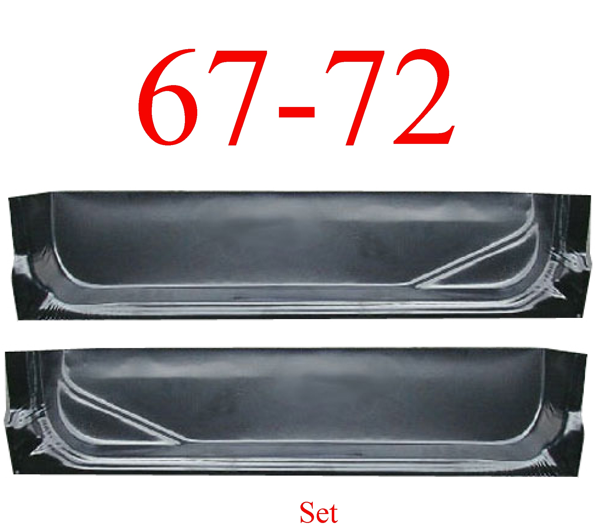 67-72 Ford Inner Door Bottom Set