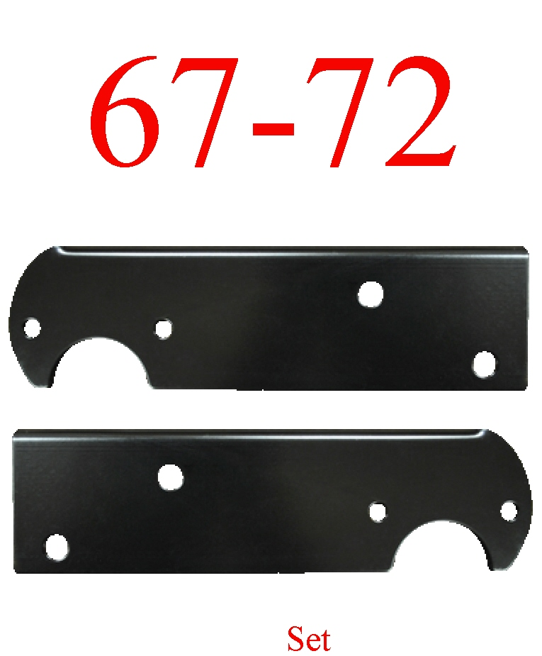 67-72 Chevy Black Stepside Tail Light Bracket Set