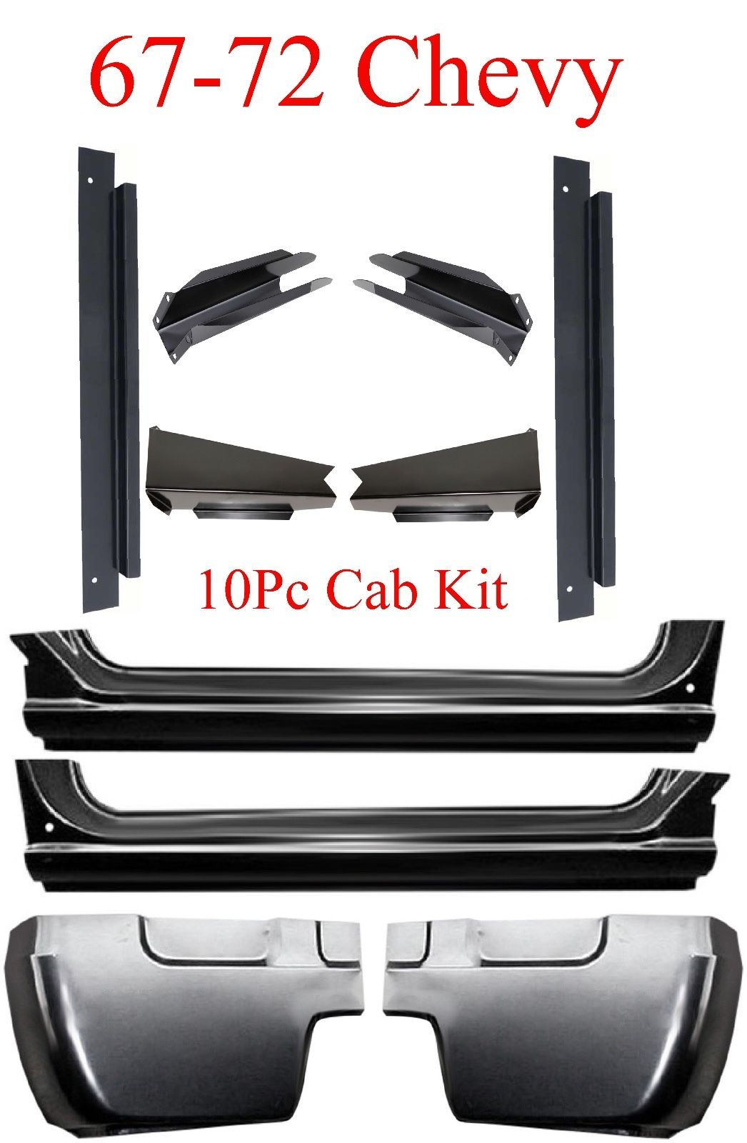 67 72 Chevy 10Pc Cab Repair Kit