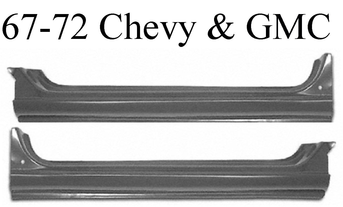 67 72 Chevy GMC Extended Rocker Set
