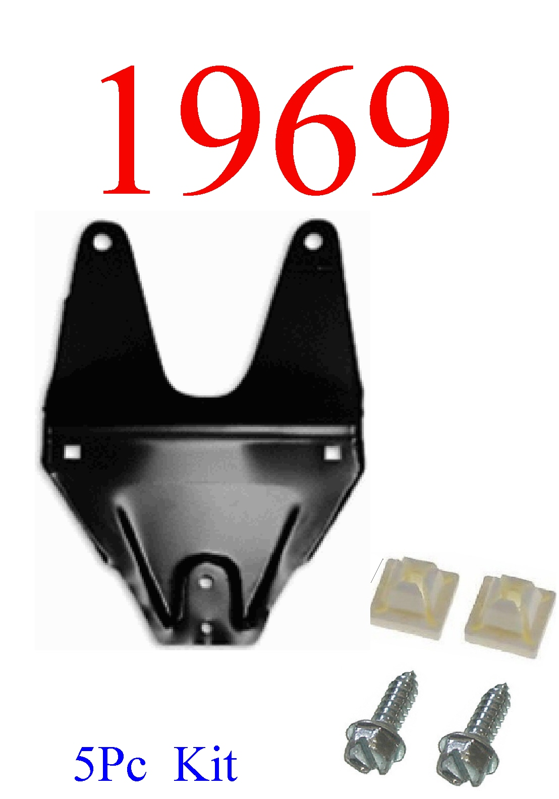 69 Camaro 5Pc Front License Plate Bracket Kit