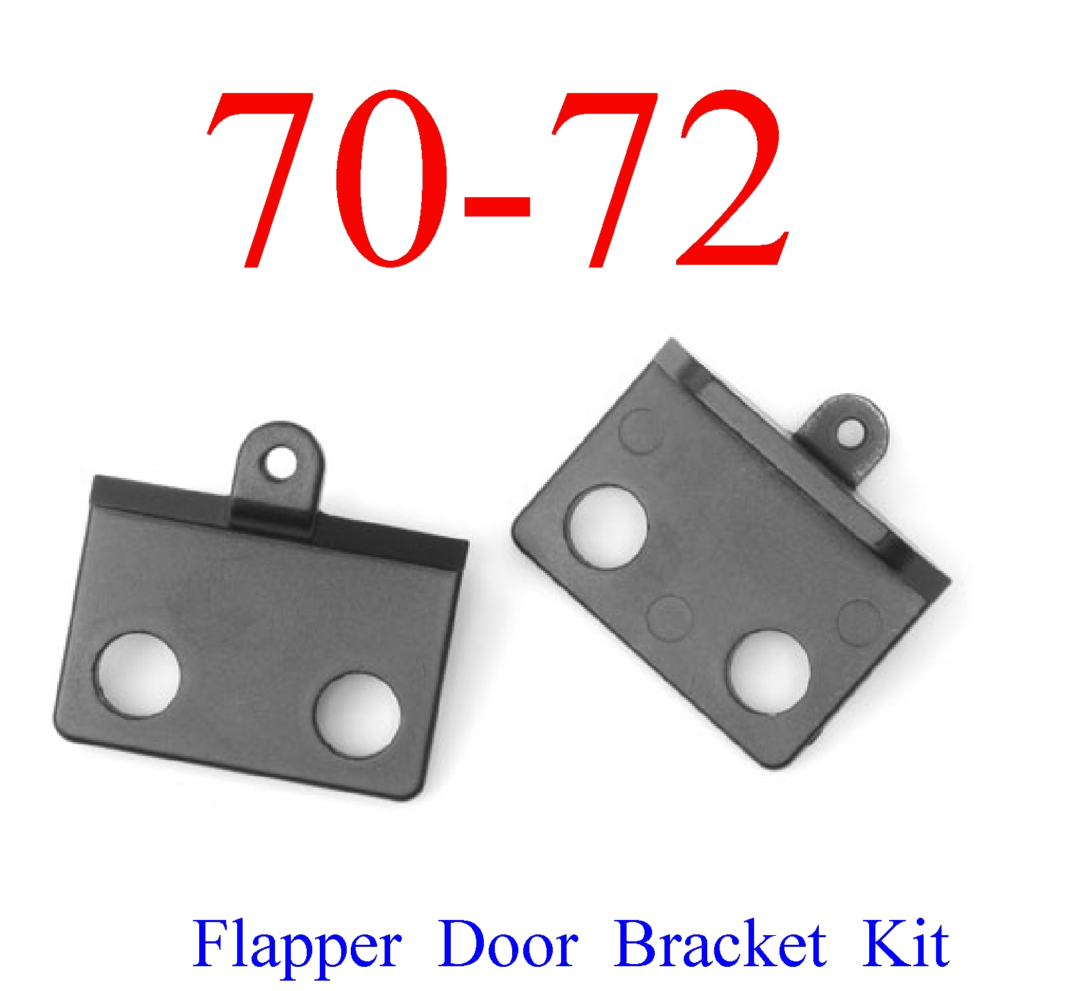 70-72 Chevy Chevelle SS 2Pc Flapper Door Bracket Kit