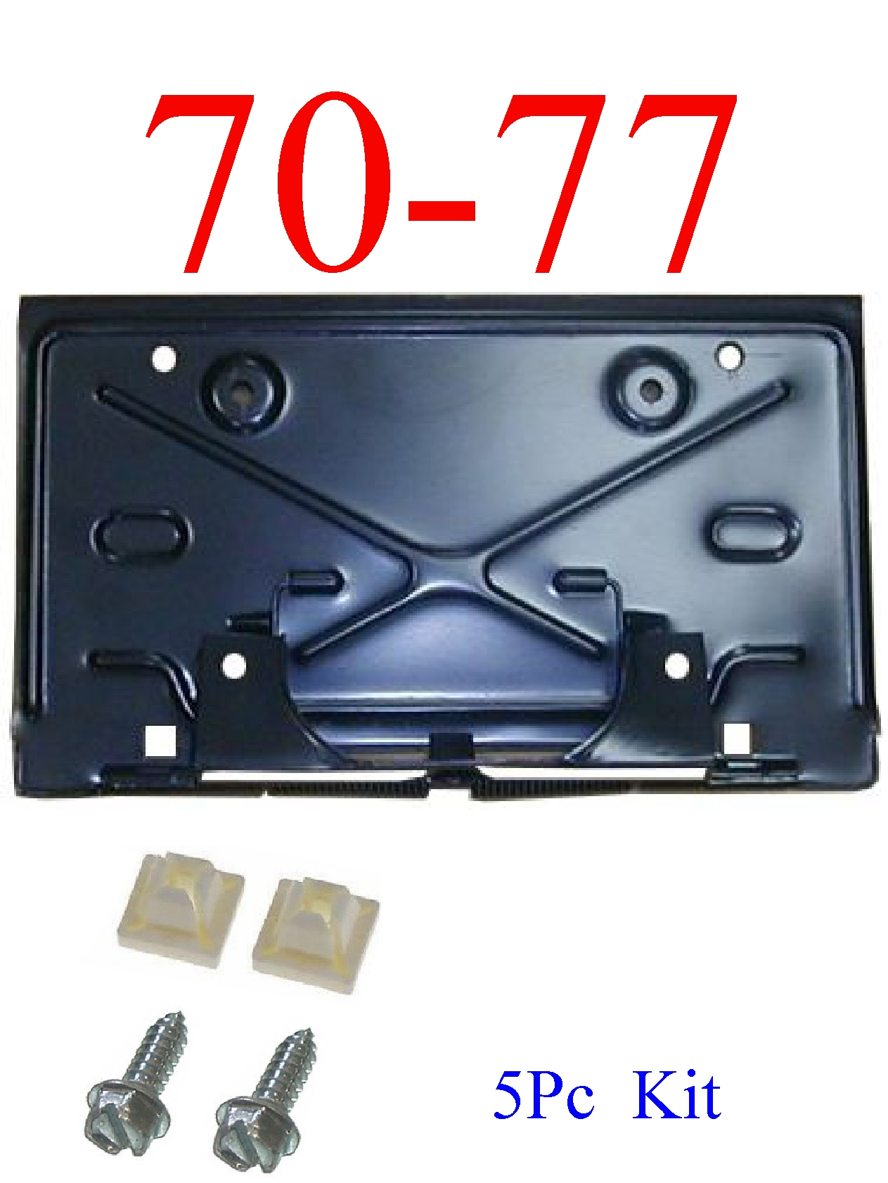 70-77 Chevy Camaro 5Pc Rear Fold Down License Plate Kit